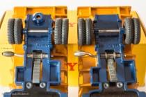 Dinky Toys 34 A et 580 - Berliet GLM 10 benne carrière - avec et sans support de roue de secours