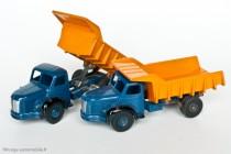 Dinky Toys 34 A et 580 - Berliet GLM 10 benne carrière - jantes convexes et concaves