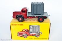 Dinky Toy 34 B - Berliet GLM 10 Plateau avec container - 2ème type - boite illustrée