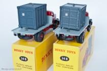 Dinky Toy 34 B - Berliet GLM 10 Plateau avec container - 1er et 2ème type