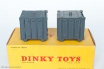 Dinky Toy 34 B - Containers du Berliet GLM 10 - 1er et 2ème type
