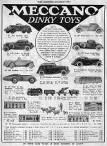 """Meccano Magazine français de août 1934 - première pleine page en France des """"Dinky Toys"""""""