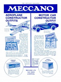 Publicité anglaise Meccano - Meccano Magazine décembre 1932