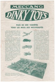 Catalogue Dinky Toys France 1935