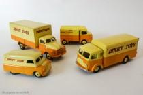 Les Dinky Toys 75ème et 80ème anniversaire Editions Atlas avec les fourgons Dinky Toys anglais