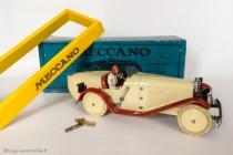 Motor car constructor n°2 - Meccauto 1932 assemblé avec sa boite spécifique, clé et socle de présentation