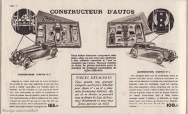 Meccano Constructeur d'autos - Catalogue général Meccano 1938