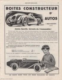 Publicité Meccauto - Meccano Magazine février 1937