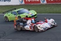 24h du Mans 2014 - La Zytek vainqueur du LMP2 dépose une Ferrari 458 Italia