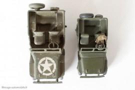 Jeep Willys - Dinky Toys 24 M et 8O B - différences de conception et de dimensions
