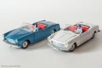 Dinky Toys 528 - Peugeot 404 cabriolet - les 2 coloris