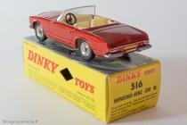 Dinky Toys 516 - Mercedes 230 SL cabriolet hard top - en position cabriolet
