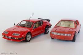 Renault Alpine A310 V6 Pack GT - Eligor/Hachette presse et Alpine A310 - Dinky Toys réf. 1411 : évolution de la voiture et de la miniature