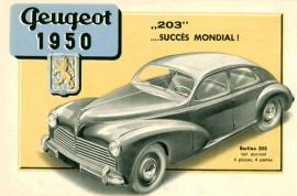 Peugeot 203 berline - publicité d'époque
