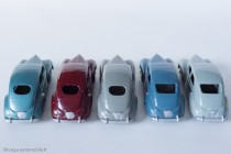 Dinky Toys 24R - Peugeot 203 berline - 3 versions et 5 couleurs