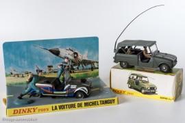 Renault 4 Sinpar versions Tanguy et Laverdure et militaire - Dinky Toys réf. 1406 et 800