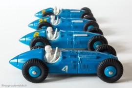 Dinky Toys réf. 23 H - Talbot Lago Grand Prix, les 4 variantes