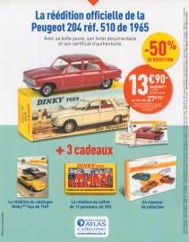 """La nouvelle collection """"Dinky Toys de mon enfance, la saga des ouvrants"""" - le 2ème modèle, la Peugeot 204"""