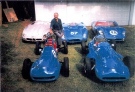 Jacques Grelley et une partie de sa collection DB Panhard