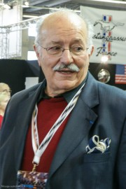 Jacques Grelley, à Rétromobile 2011 pour l'exposition Fangio