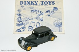 Citroën Traction Avant 11 de 1946 - Dinky Toys 24N avec catalogue 1950