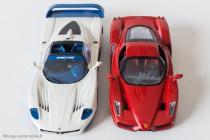 Maserati MC12 et Ferrari Enzo, différence de gabarit - IXO Models
