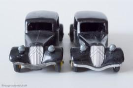 Citroën Traction Avant 11 BL - Dinky Toys 24N - 1er et 2ème type,  variante de calandre et pare-chocs