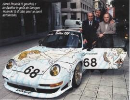 Porsche GT2 décorée par Wolinski en 1998 - crédit Autohebdo
