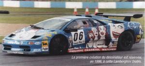 Lamborghini Diablo décorée par Wolinski en 1996 - crédit Autohebdo