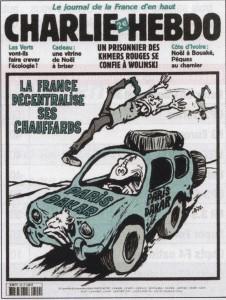 Une de Charlie Hebdo au sujet de Paris-Dakar - crédit Autohebdo