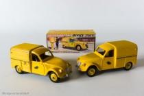 Citroën 2 CV fourgonnette postale - Dinky Toys réf. 562 - jantes convexes (pré-série) et concaves