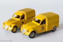 Citroën 2 CV fourgonnette Wegenwacht et postal - Dinky Toys réf. 560 et 562