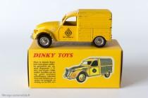 Citroën 2 CV fourgonnette Wegenwacht - Dinky Toys réf. 560 (ici sur boite Atlas) - variante n°2