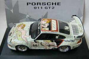 Porsche GT2 décorée par Wolinski en 1998 - Minichamps au 1/43ème