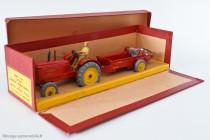 Tracteur agricole et épandeur d'engrais Massey-Harris - Dinky Toys Réf. 27AC - modèles anglais en boite française