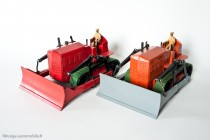 Blaw-Knox bulldozer - Dinky Toys Réf. 561 et 885 - modèles fabriqués en Angleterre et en France