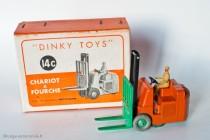 Coventry Climax chariot à fourche - Dinky Toys Réf. 14C - modèle anglais en boite française