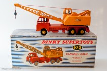 Camion grue Coles 20 T. - Dinky Toys Réf. 972 - modèle anglais fabriqué en France en boite française