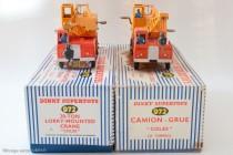Camion grue Coles 20 T. - Dinky Toys Réf. 972 - modèle anglais et celui fabriqué en France