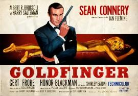 Affiche du film Goldfinger avec Sean Connery