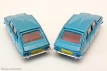 Dinky Toys réf. 537 - Renault 16 - Avec gouttières soulignée en argenté à droite, exceptionnellement sans détail argenté à gauche.