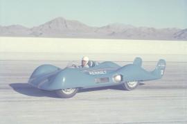 Renault Étoile Filante sur le lac salé de Bonneville - photo Renault 1956