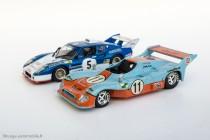 Mirage Gulf (Solido) et Ligier JS2 (Ixo), 1er et 2ème des 24 Heures du Mans 1975 & Ligier JS2