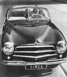 Simca 8 Sport cabriolet 1951- calandre à 3 barres