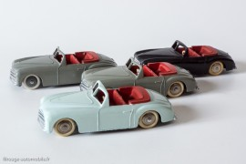 Dinky Toys réf. 24S - Simca 8 Sport - les 3 variantes
