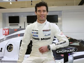 Marc Weber avec la montre Chopard Superfast Chrono Porsche 919 (photo Chopard)