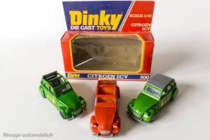 Dinky Toys Solido 1401 - Citroën 2CV - 2 variantes : capote ouverte et fermée