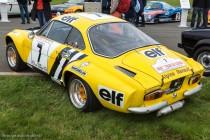 Le Jour J 70 à Lohéac - Alpine Renault A110 1800, 2ème au Tour de Corse 1975 avec JP. Nicolas, vainqueur avec J.Ragnotti au Tour de la Réunion 1976