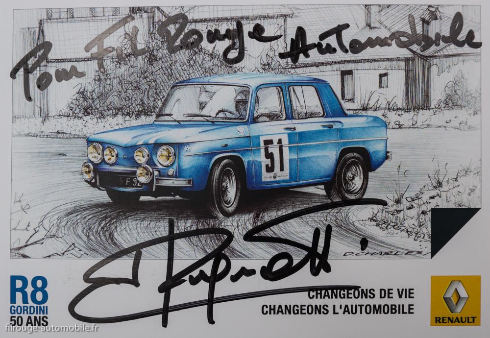 autographe Jean Ragnotti pour Filrouge automobile en 2014