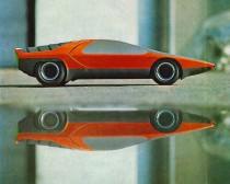 Alfa Romeo Carabo Bertone - maquette test Bertone